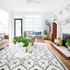 Neutral Rugs For Living Room Help Decorate My The Versatility Of A Rug Roundup Sunny Circle Studio Coffee Table Lumbar Pillow Leather Sofa Planter