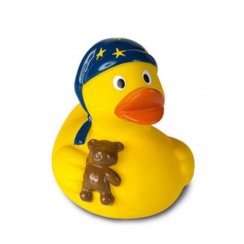 sleepy head rubber duck