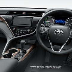All New Camry Singapore Variasi Grand Veloz Toyota Hybrid 2019 30yrs Anniversary Package Interior Dashboard With Steering Wheel