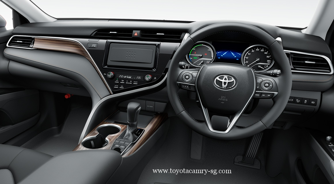 all new camry singapore vellfire 2018 toyota hybrid 2019 30yrs anniversary package interior dashboard with steering wheel