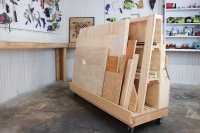 Rolling Scrap Wood Storage Cart  3x3 Custom