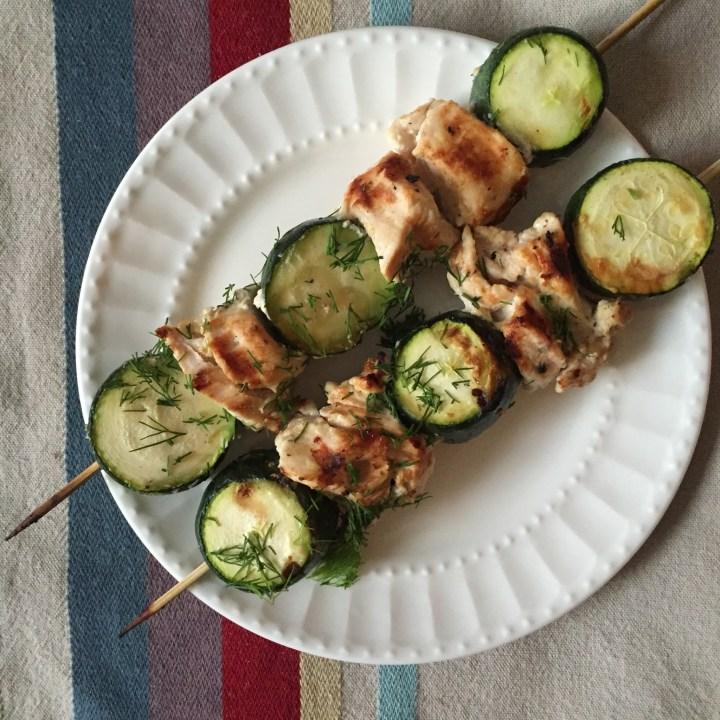 chicken and zucchini kabobs