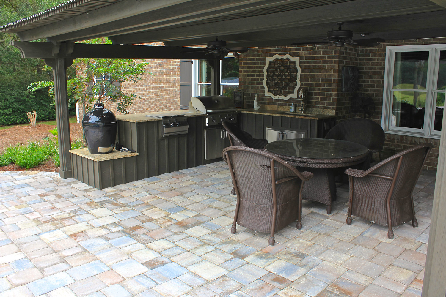 how much does an outdoor kitchen cost kohler purist faucet kitchens american paving design paver bluffton sc