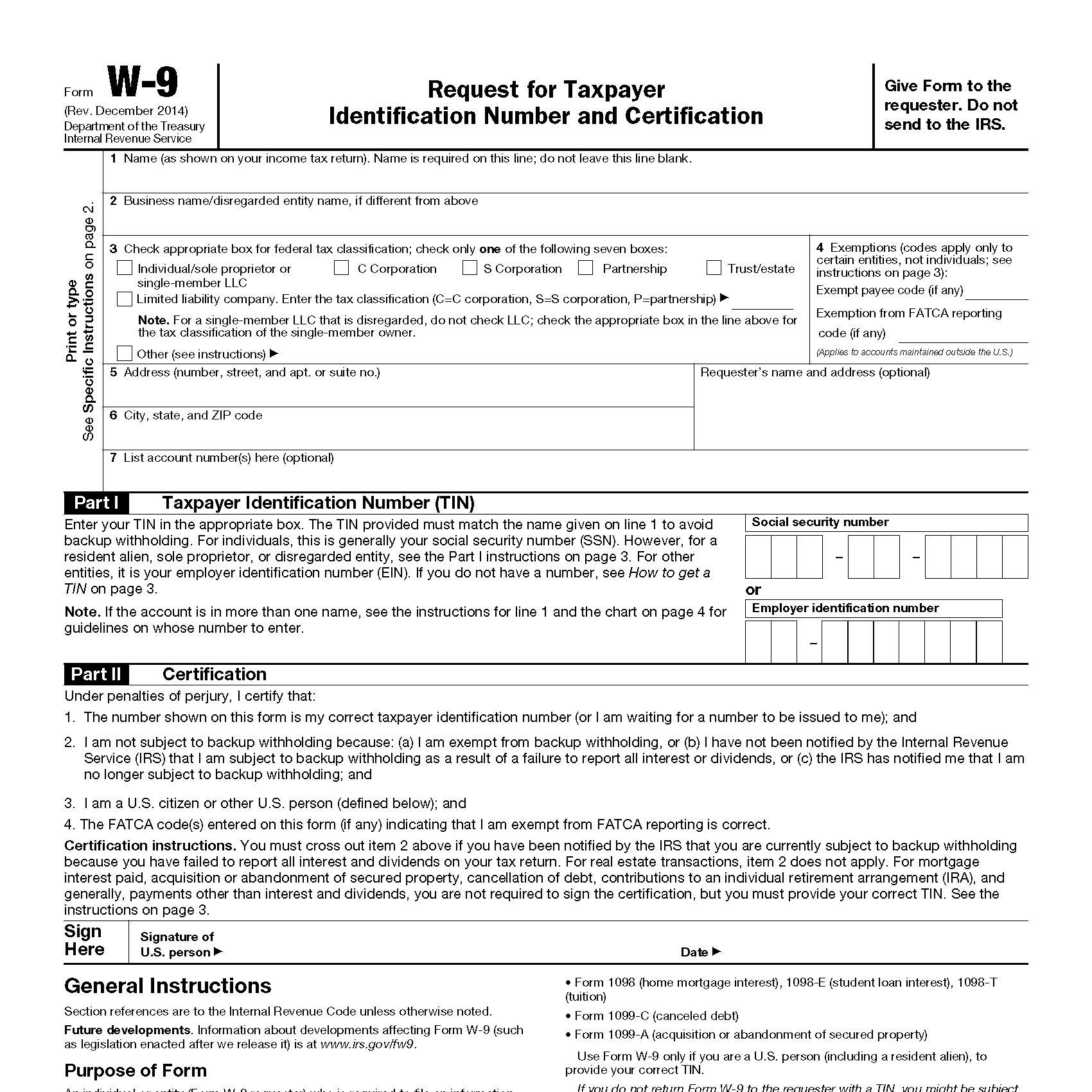 Form W-9