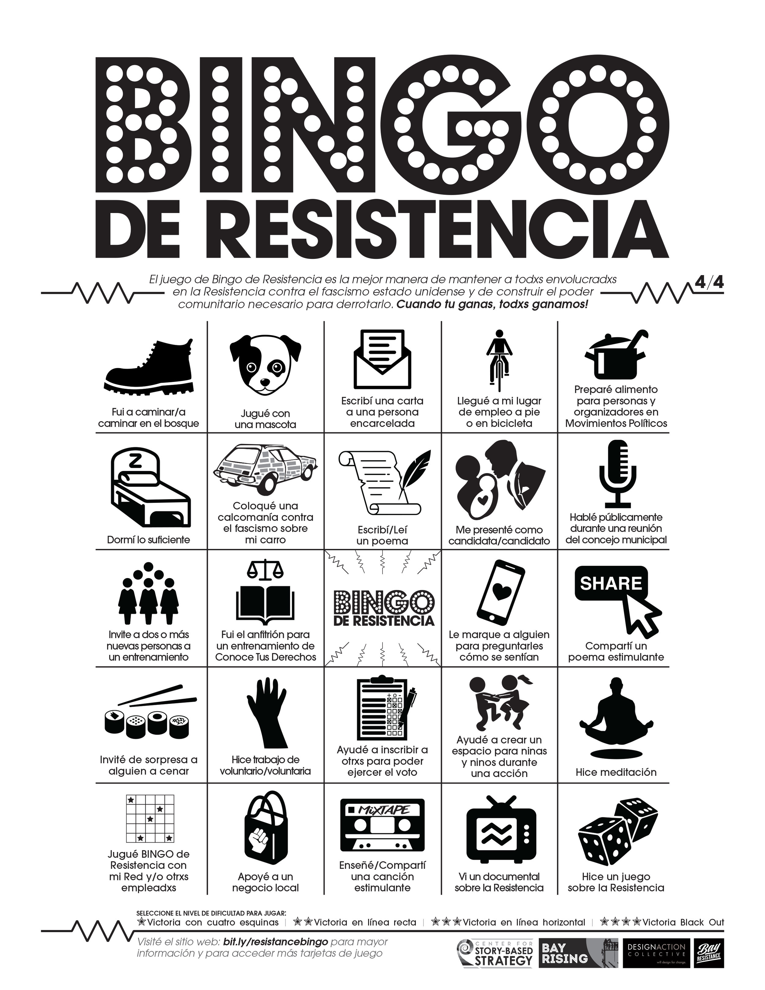 Resistance Bingo — Center for Story-based Strategy