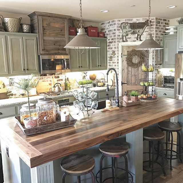 farmhouse kitchen cabinets greenhouse window 10 features of a and 30 inspiring examples soft colors with exposed brick style