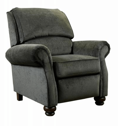 reclining accent chair blue pads hemingway praline miller s home furnishings