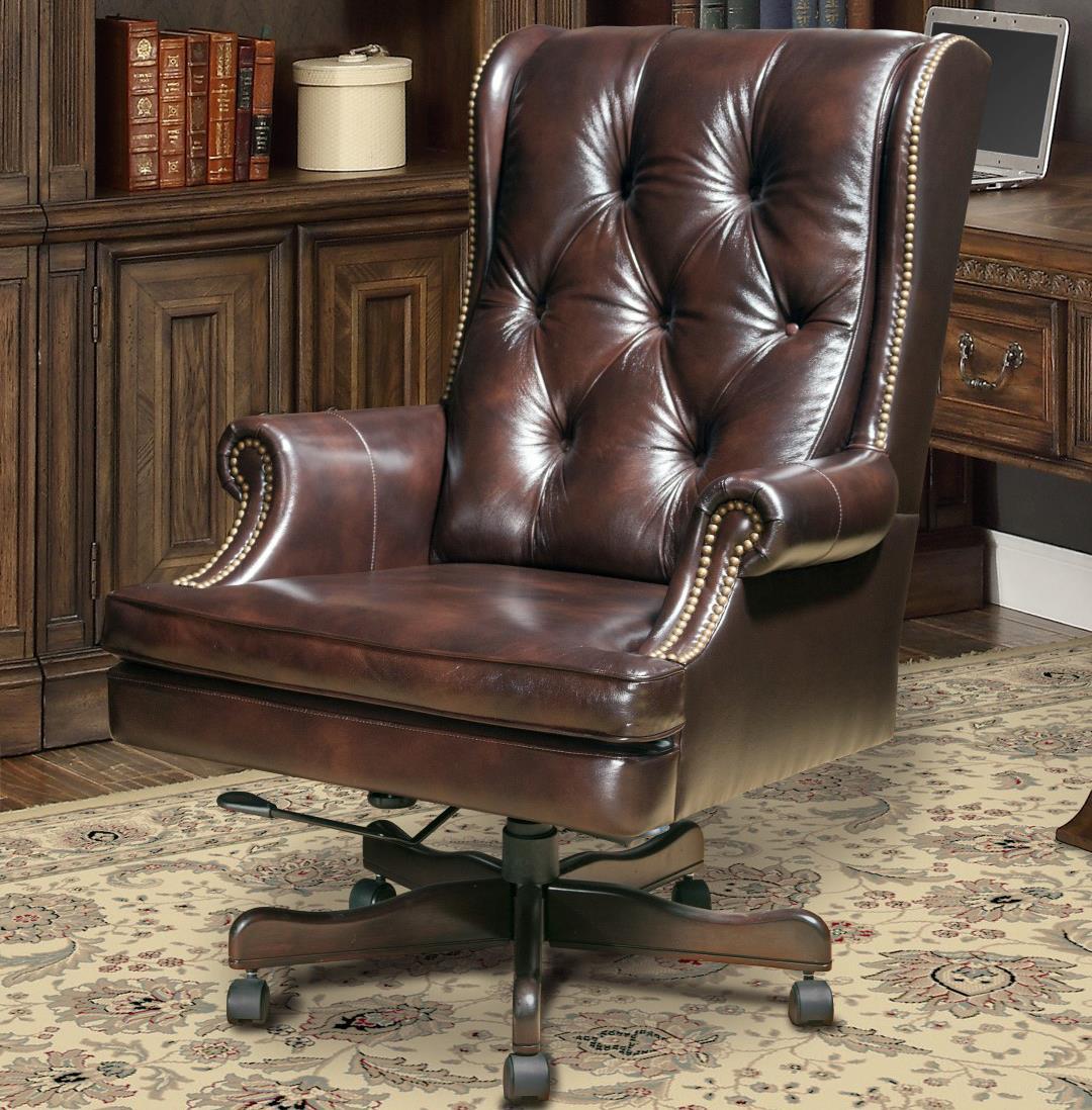 small resolution of havana brown base hartford tufted desk chair miller s home furnishings