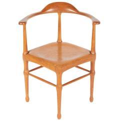 Wooden Corner Chair Henriksdal Cover Etsy Vintage Model Of Danish Mid Century Lost City Arts