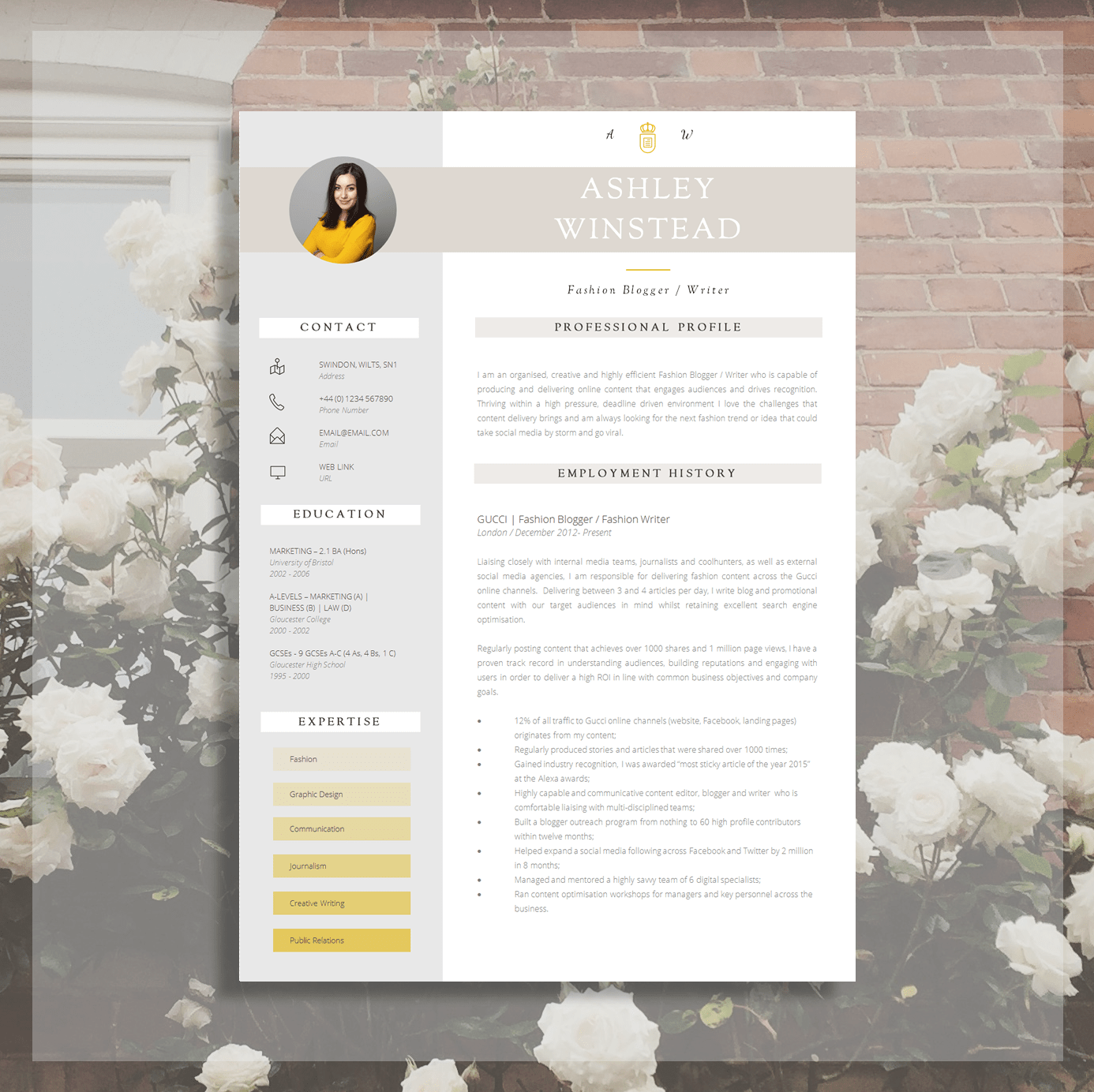 modern resume templates for word