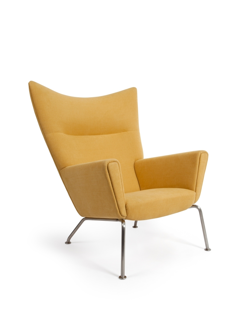 Wing Chair Hans Wegner Style Yellow Wing Chair Ottoman Ireland Exclusive