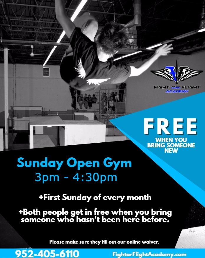 Bring someone new to Open Gym and you both get in for free — Fight ...