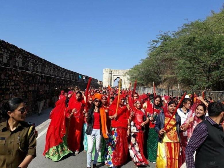 Women take out 'Chetavani Rally'in Rajasthan's Chittorgarh. Source:IANS