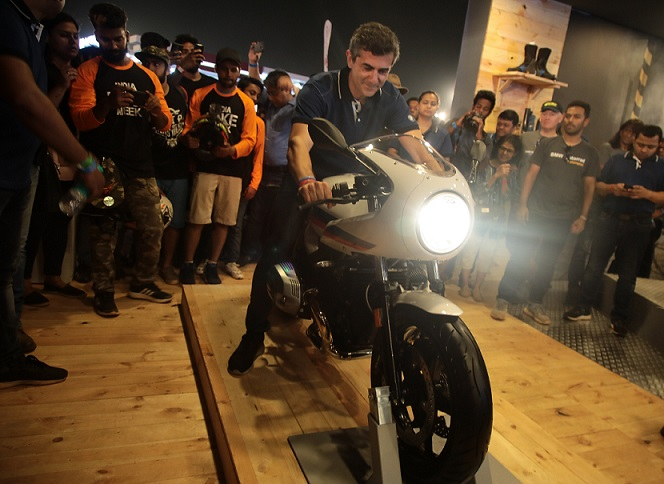 Mr. Dimitris Raptis with the new BMW R nineT Racer Image source: Supplied