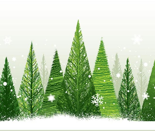Christmas Trees Snow Jpg