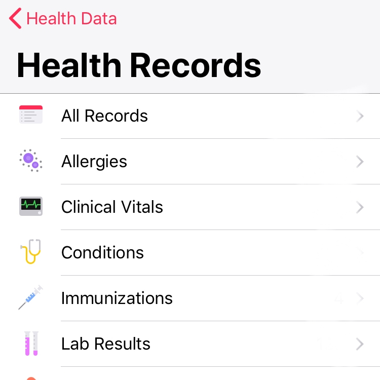 tried apple   health record and here what happened also duke mobile rh magbile