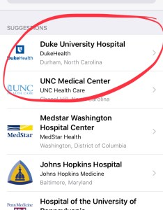Once  chose duke was prompted to authenticate with my epic mychart credentials this is  key step  if you don  already have or patient portal also tried apple  health record and here what happened mobile rh magbile