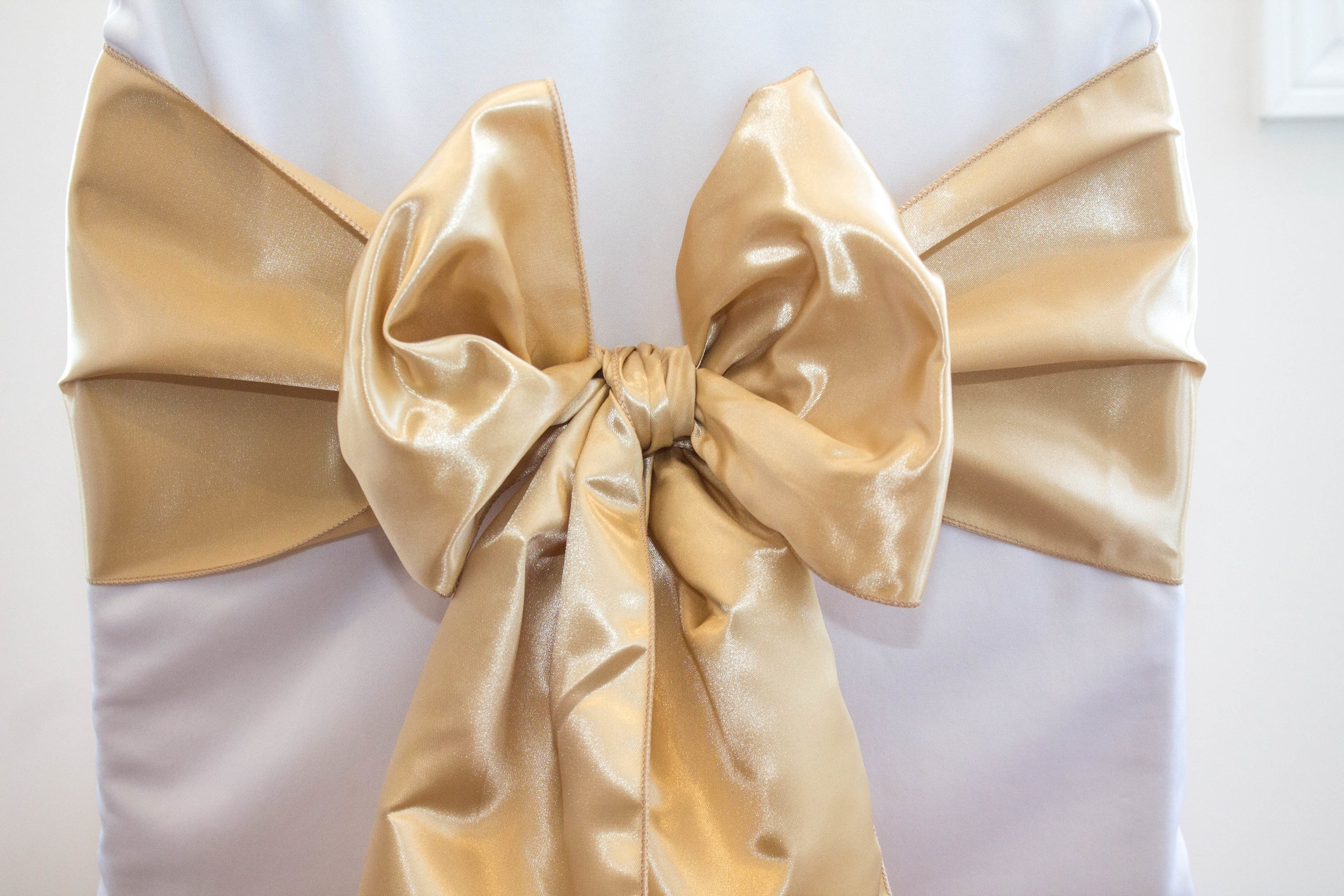 Champagne Chair Covers Champagne Satin Sash