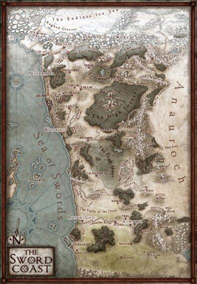 Faer�n Map : faer�n, Sword, Coast:, Campaign, Northwest, Faerun, *REVISED!*, Jared, Blando