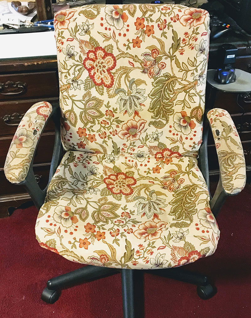 how to reupholster a chair cushion corner 10 dining room set an office the mermaid s den