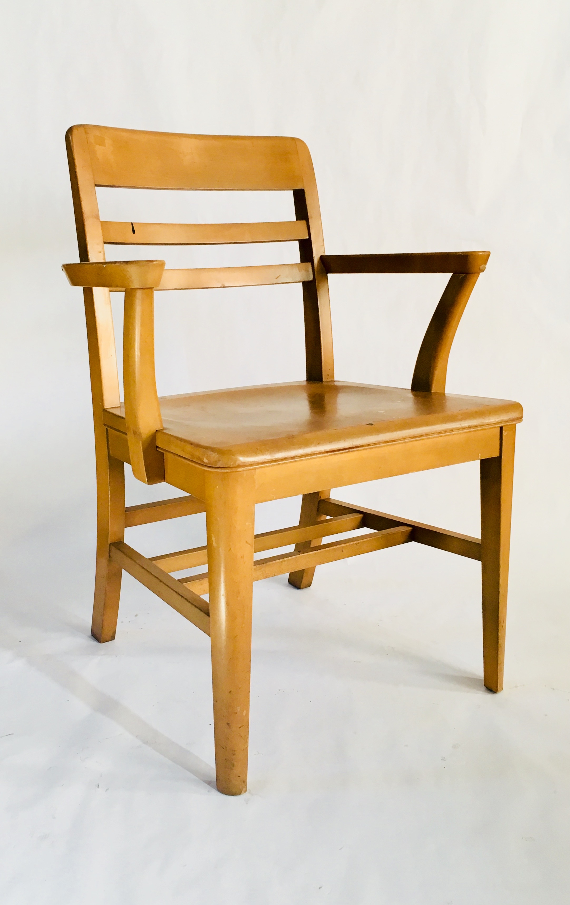 wooden library chair french dining vintage by gunlocke co kyla coburn 10161 jpg