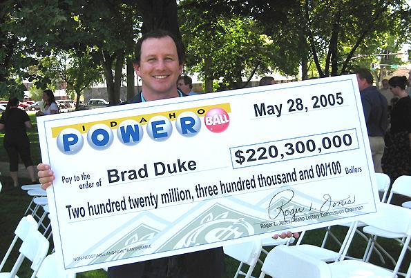 brad duke lottery winner success