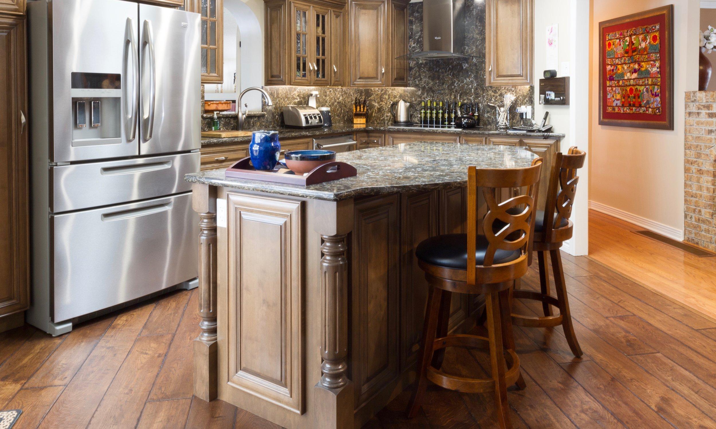 kitchen reno wall mount faucet with sprayer all star flooring bath pembroke ontario ottawa valley