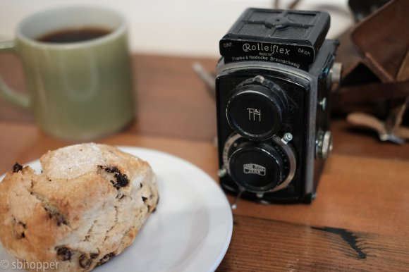 Rolleiflex camera film photography Analog coffee Seattle