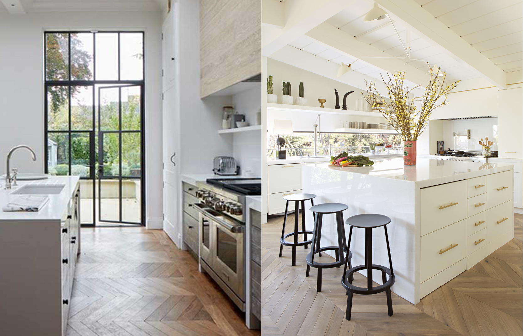 Light Wood Floors In Kitchen — Paula E Guzman