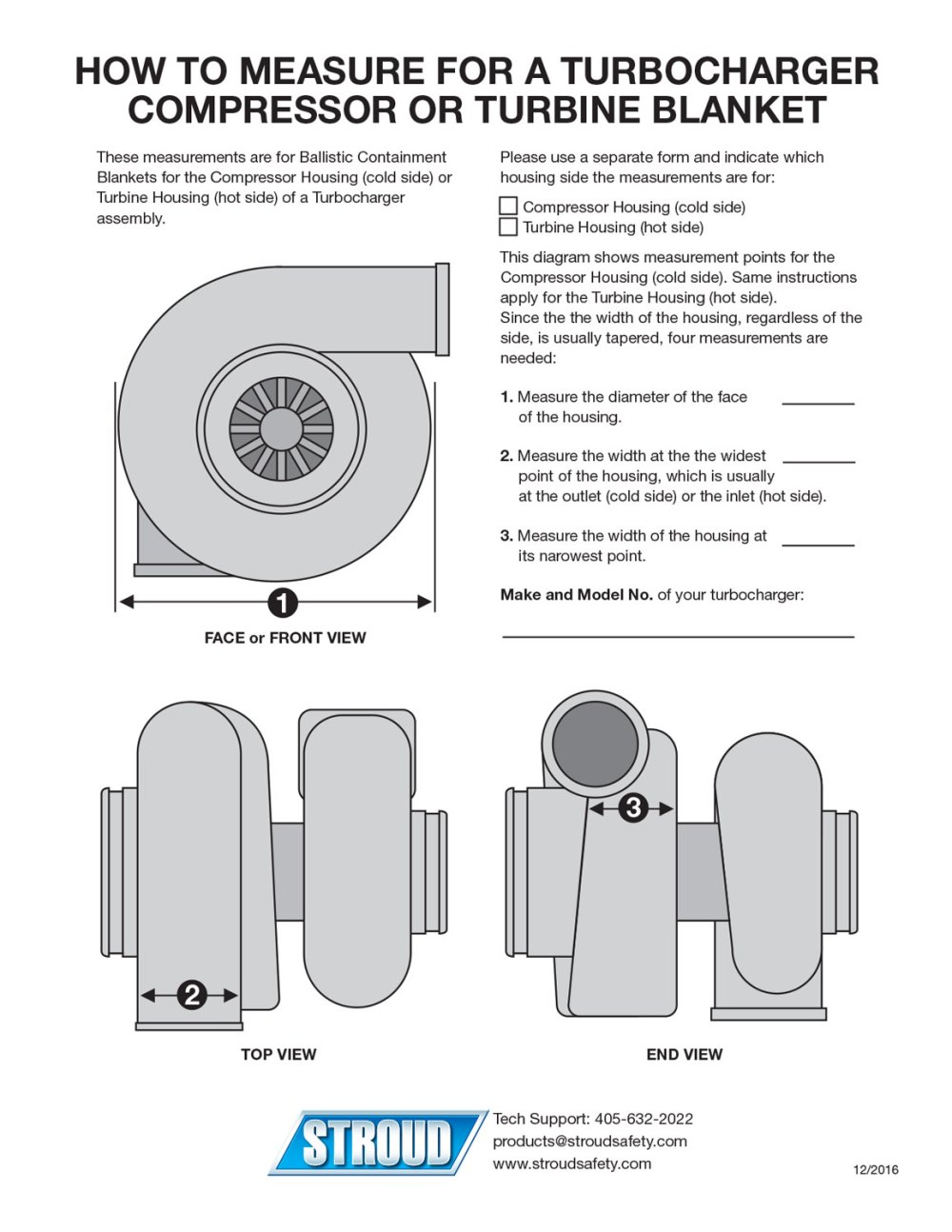 medium resolution of download the how to measure for a turbocharger compressor or turbine blanket instruction sheet here