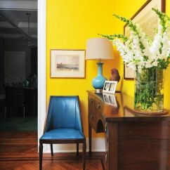 Yellow Paint Ideas For Living Room Fau Tickets Bring Zest To Interior Painting With Blue Door