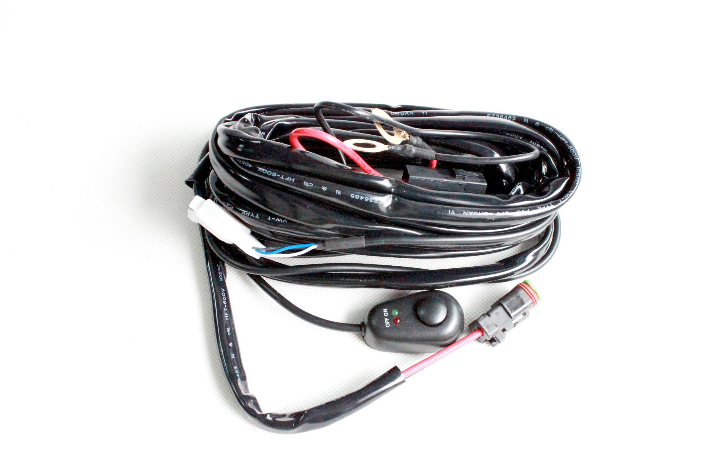 medium resolution of single light wiring harness