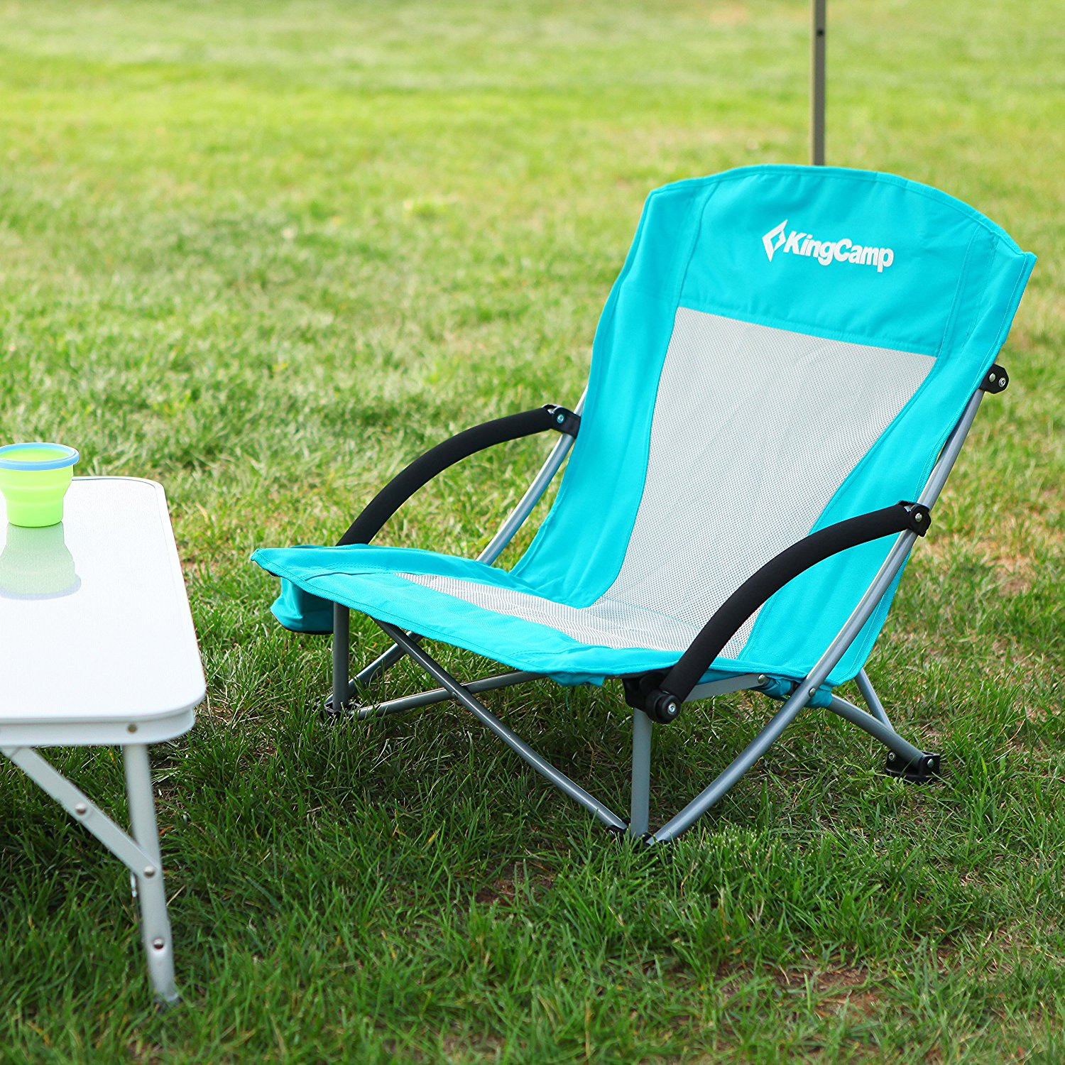 Low Folding Beach Chair Low Profile Folding Beach Chair With Mesh Back And Cup Holder 300