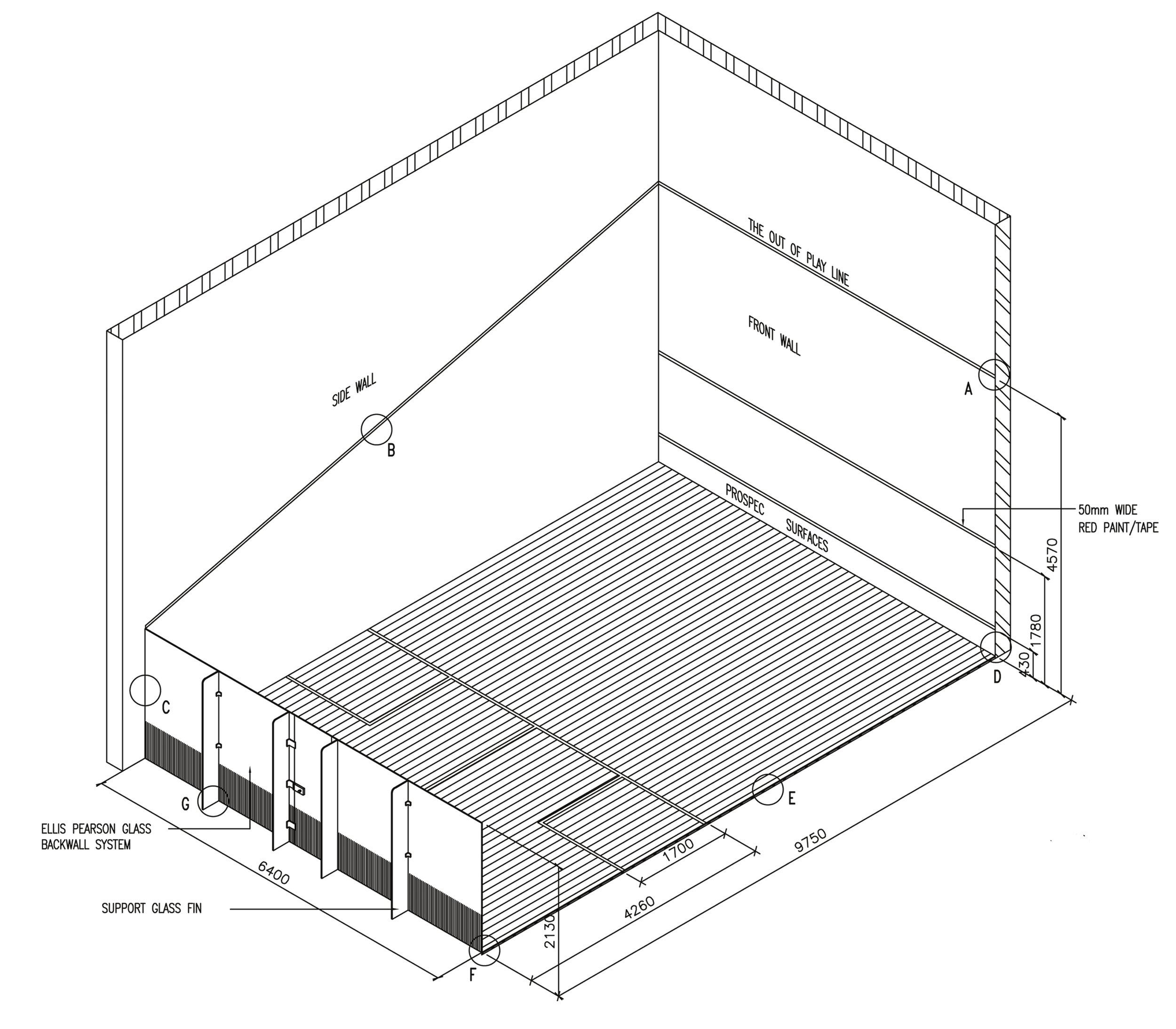 squash court diagram three line solar courts prospec surfaces dwg jpg