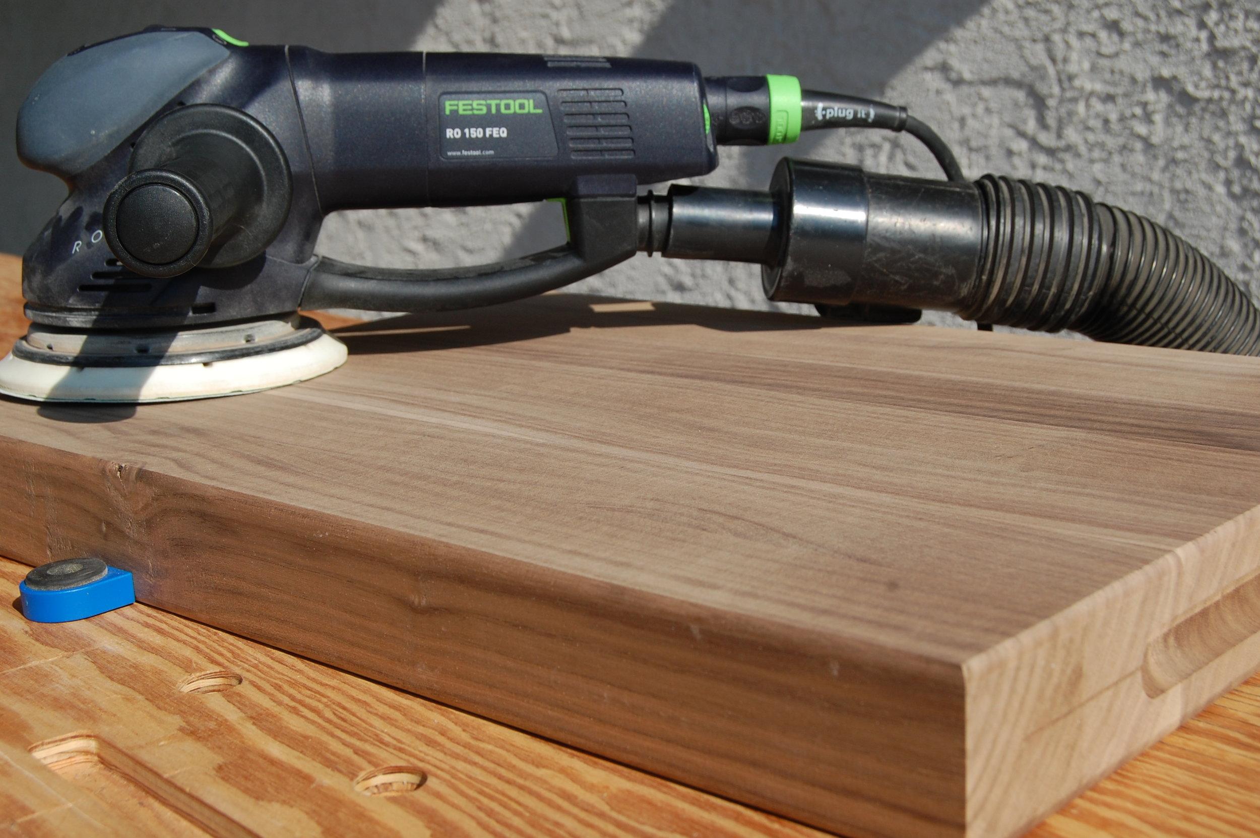 Sanding A Cutting Board Flat