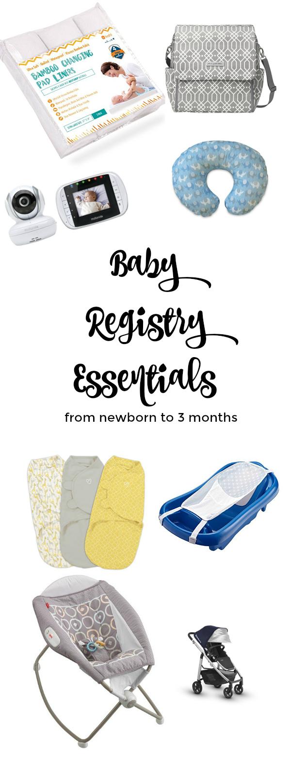 Baby Registry Essentials Up To 3 Months