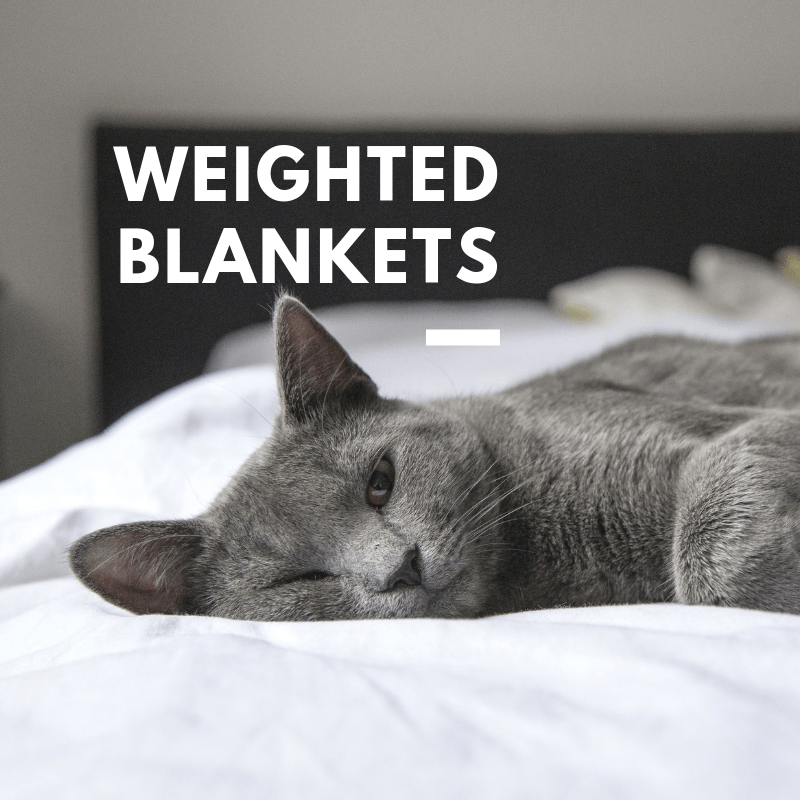 using weighted blankets to