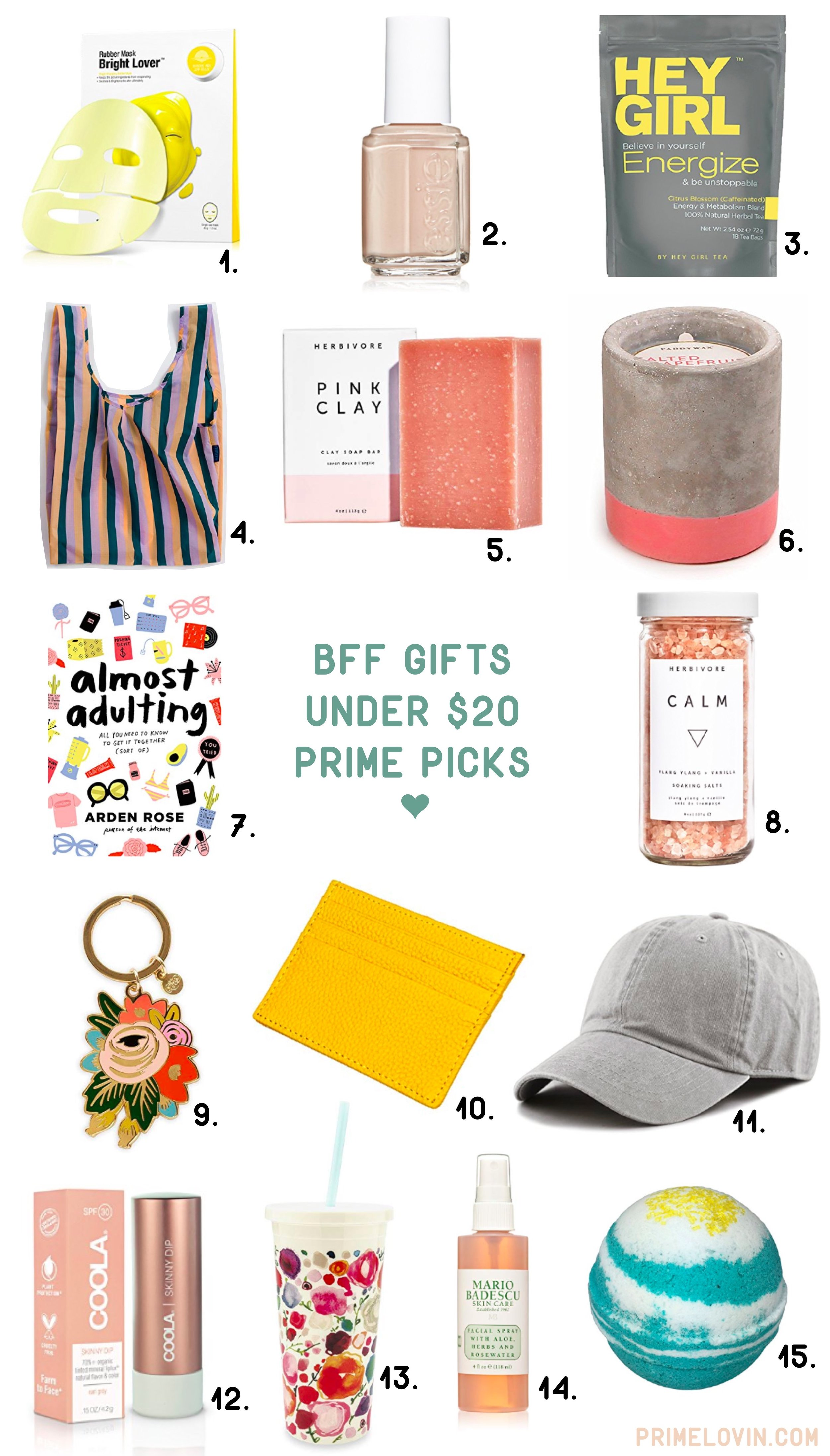 bff gifts under 20