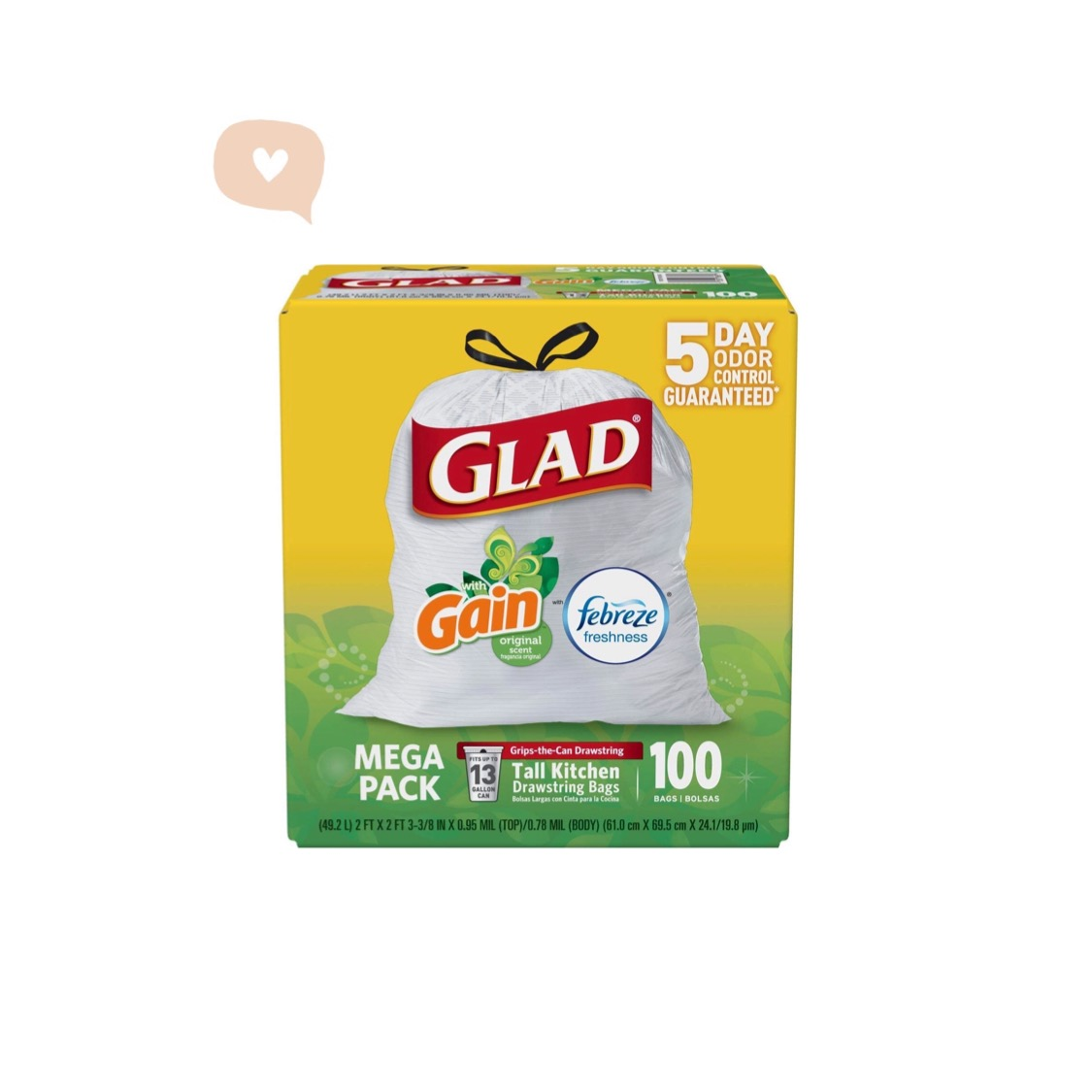 glad kitchen trash bags ikea faucets odorshield tall prime lovin