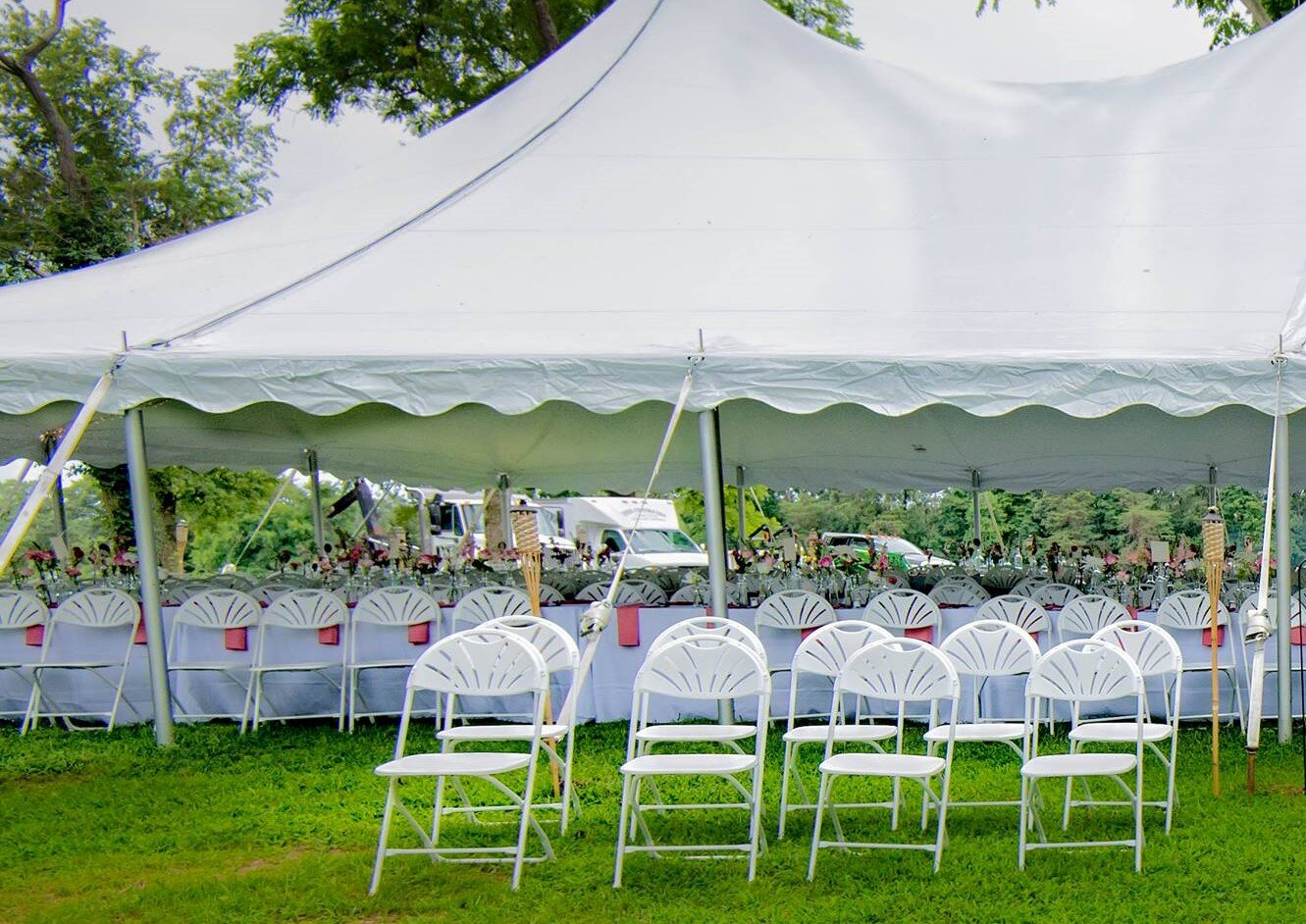 table and chair rentals red black covers delaware tents 4 rent fan back