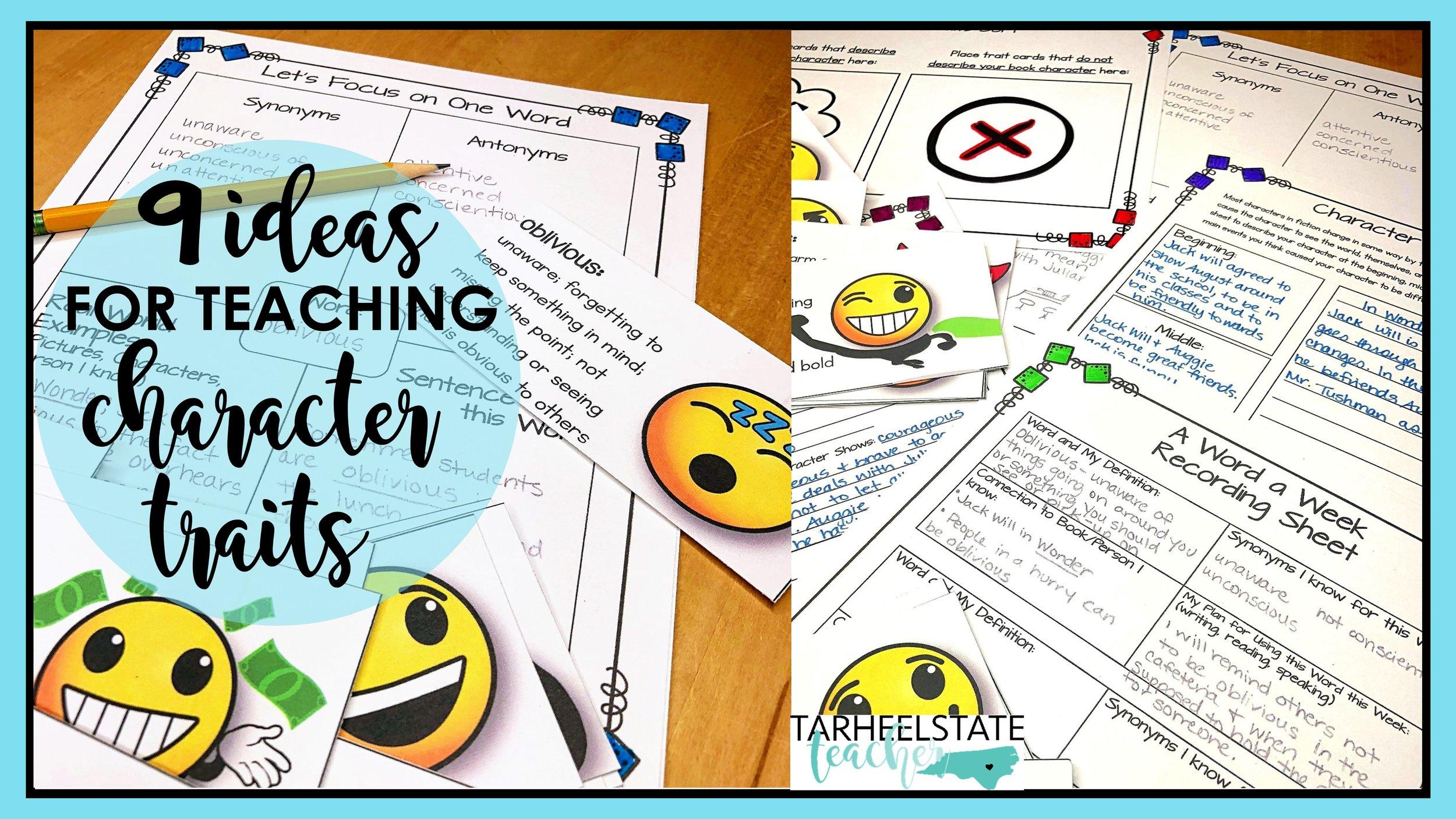 A Lesson Fail and 9 Ideas for Character Traits — Tarheelstate Teacher [ 844 x 1500 Pixel ]