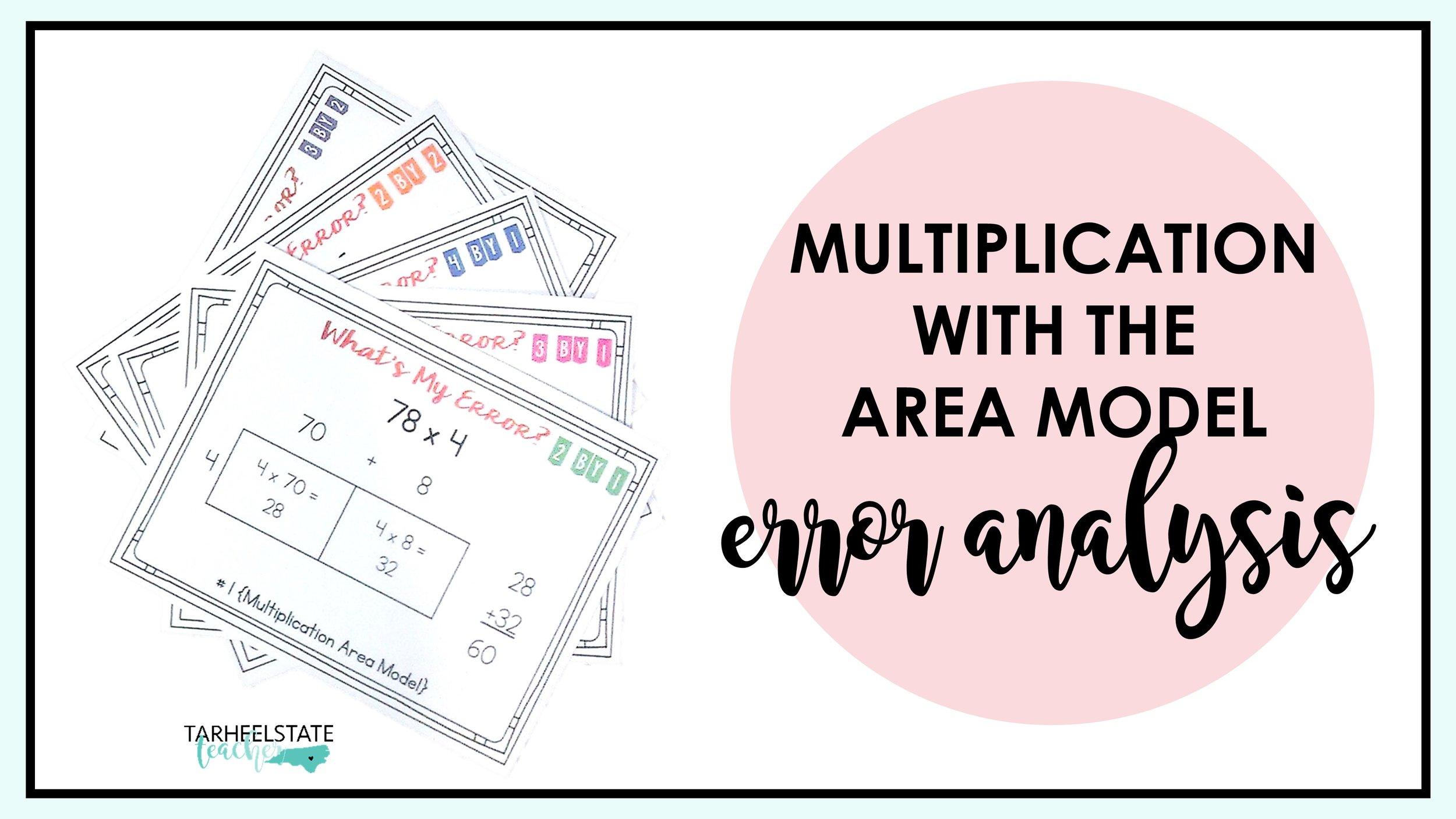 medium resolution of Multiplying with the Area Model Error Analysis — Tarheelstate Teacher