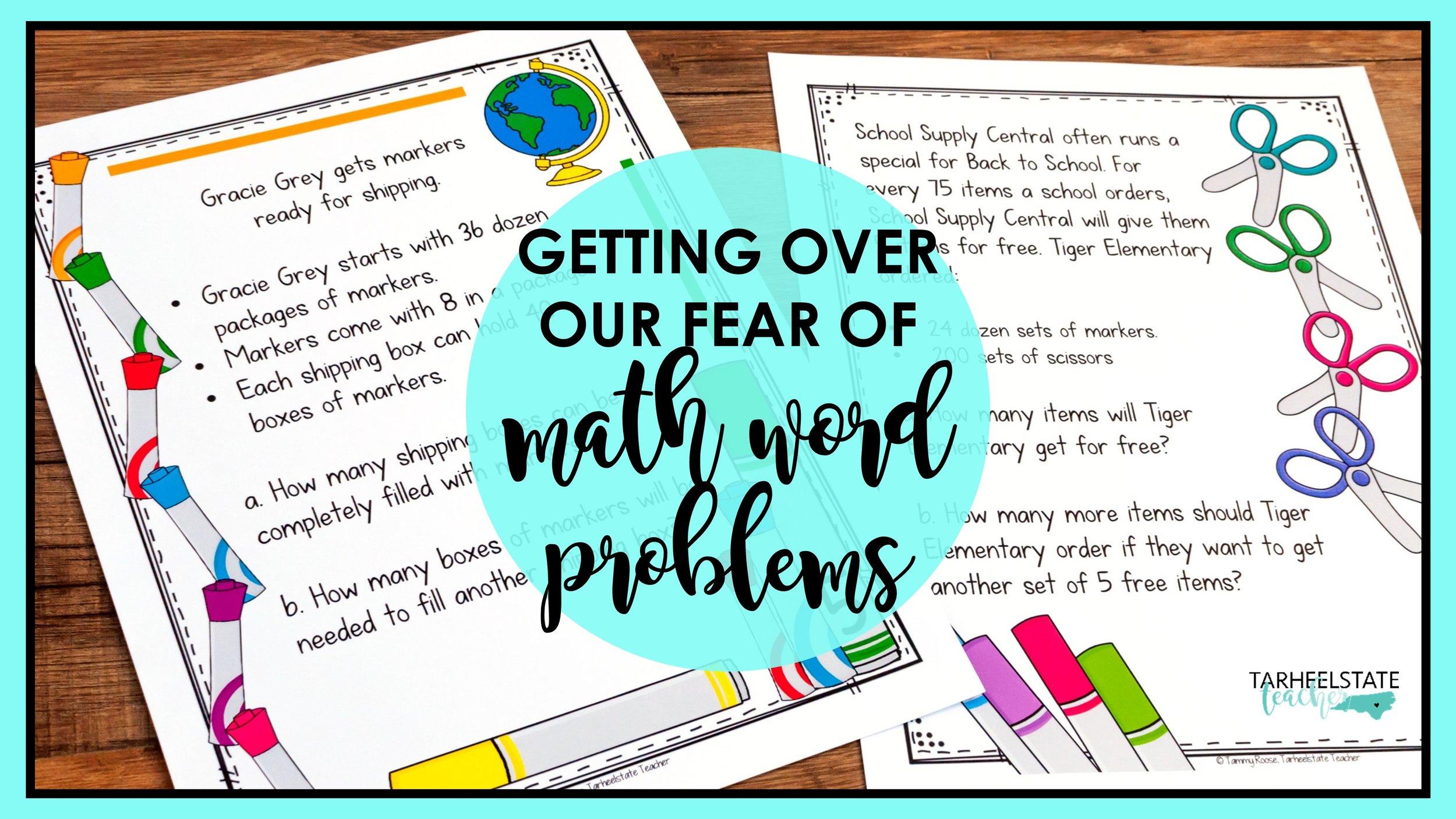 Get Over Your Fear of Teaching Math Word Problems! — Tarheelstate Teacher [ 844 x 1500 Pixel ]