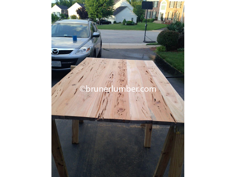 Pecky Cypress Table