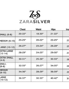 Sizechartg also size chart  zara silver clothing rh zarasilverclothing