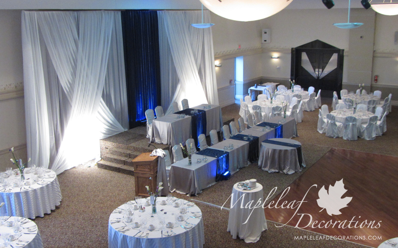 chair covers rental scarborough pottery barn and a half backdrop decor no head table mapleleaf decorations toronto wedding modern two