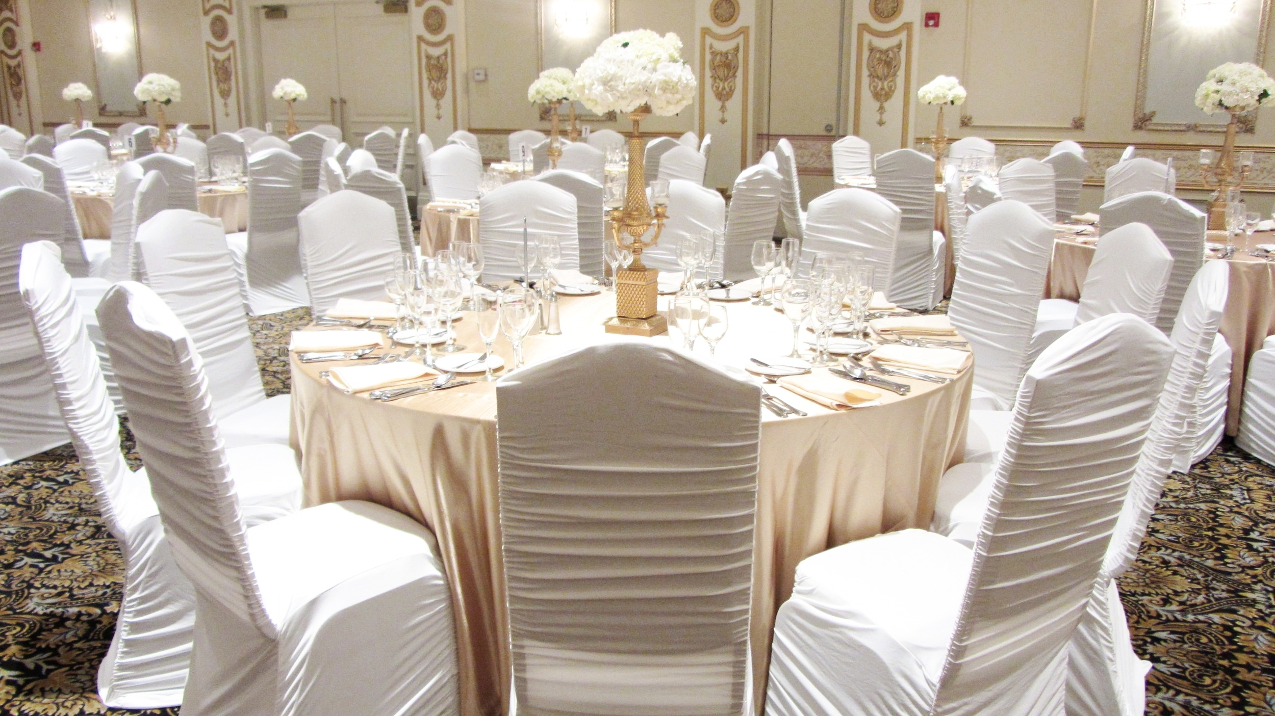 chair covers gladstone brown metal folding chairs wedding decorations mapleleaf linens