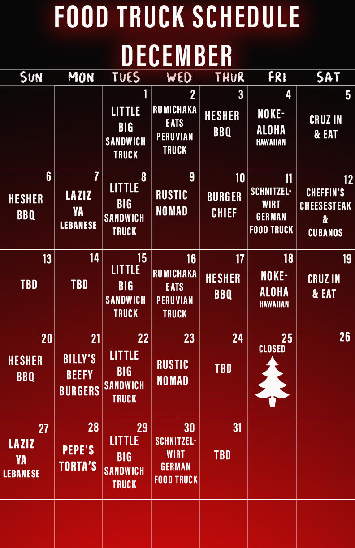 Cheffins Food Truck : cheffins, truck, December, Truck, Schedule, Launch, Brewery
