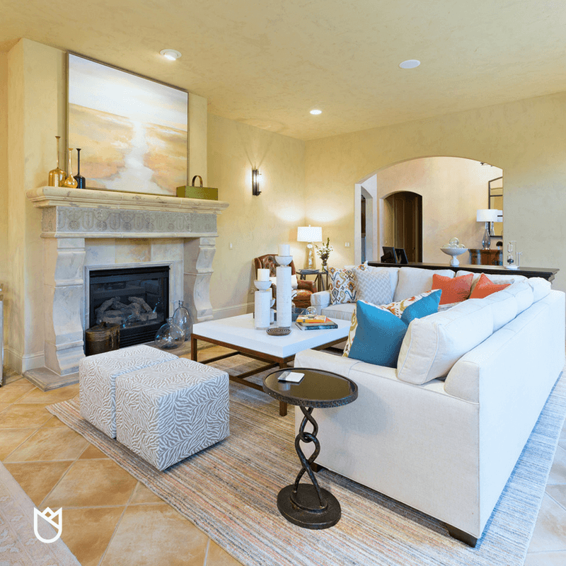 living room fireplace off centered inexpensive decorating ideas house tour luxury in a california vineyard ktj design co white sectional atop large wool rug anchors this and give the