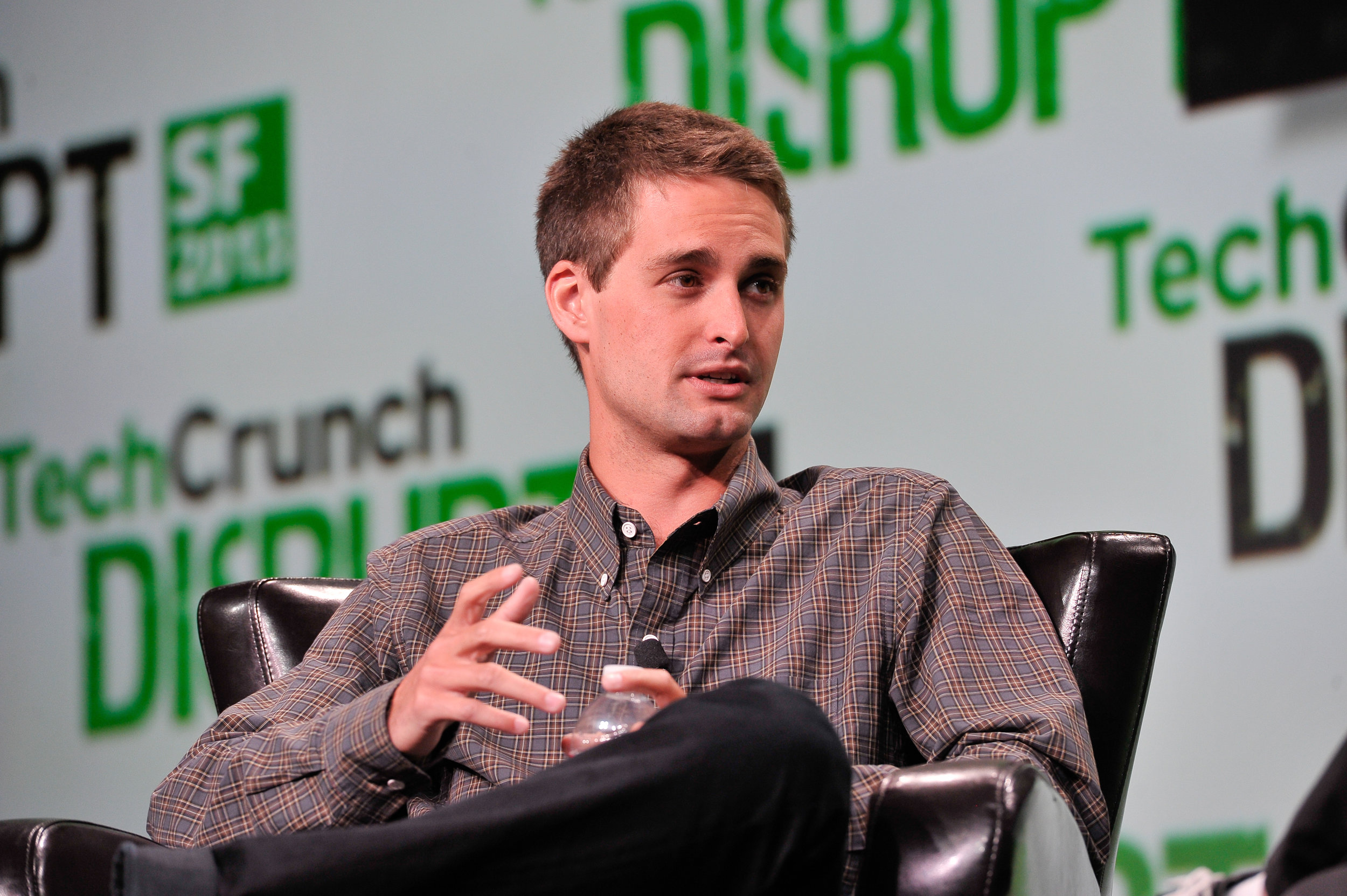 Snapchat co-founder and CEO Evan Spiegel at TechCrunch Disrupt